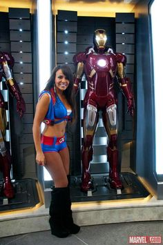 SDCC 2012: WWE Wrestler Layla poses on the Marvel Stage    Photo by Judy Stephens