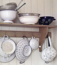 """Fabulous farmhouse brocante filled shelf from the book """"Junk Style"""" by Melanie Molesworth one of my favourites"""