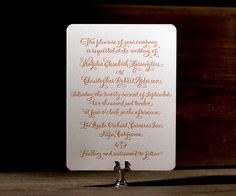 Natalia by Debi Zeinert is a sweet and fresh letterpress invitation with pretty calligraphy and timeless wedding style.
