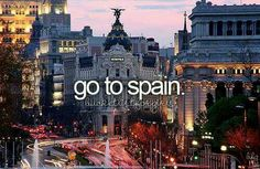 Go to Spain again & show Lucas where I studied.