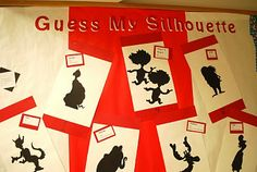 "As part of a Dr. Seuss author study, this ""Guess My Silhouette"" would be fun project that your students would enjoy. Your students' finished projects would make an eye-catching and unique Dr. Seuss bulletin board display."