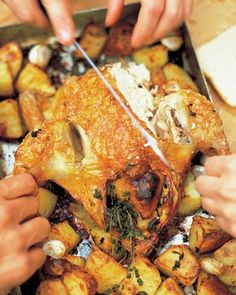 Jamie Oliver Roast Chicken with Lemon and Rosemary Roast Potatoes