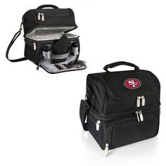 San Francisco 49ers NFL Black Pranzo Lunch Tote. Insulated polyester bag. Visit SportsFansPlus.com for Details.
