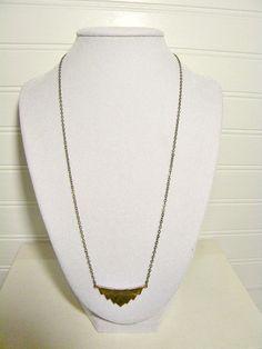 Chevron Necklace Geometric by FleaMarketGal on Etsy, $18.00
