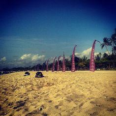Sanur beach, behind The Grand Bali Beach Hotel
