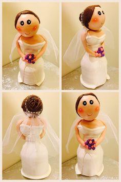 Bride/ cold porcelain / cake topper
