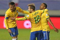 Neymar scored 1 goal and 1 assist and win the match against peru 2-1