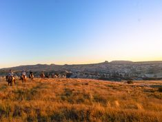 Horse riders in a field in Cappadocia, near Rose Valley in Goreme. Land of Beautiful Horses. Great Places, Places To See, Famous Fairies, Sunset Point, Visit Turkey, Before Sunrise, Cappadocia, Nature Reserve, Best Vacations
