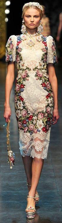 Dolce & Gabbana Fall 2013 tapestry chic  ♥✤ | Keep the Glamour | BeStayBeautiful