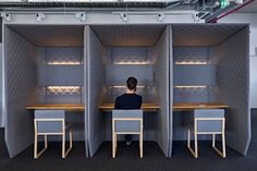 sound insulated office phone box to take private phone calls in an open workspace