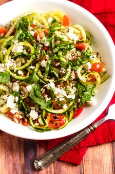 Shaved Zucchini Salad with Tomatoes and Goat Cheese  Please share, like, comment, +1, reTweet, etc.