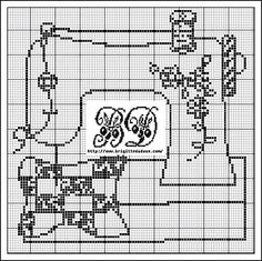 1000+ images about point de croix machine a coudre on Pinterest   Sewing machines, Cross stitch ...