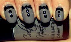 Super easy tuxedo nails