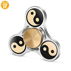 TOOBOM Metal Fidget Spinner 3 Mins, Yin Yang Fidget Spinner Toy Stress Reducer Hand Spinner for Kids Children Adult, Fast Quiet Quality Bearing (*Partner Link) Metal Fidget Spinner, Hand Spinner, Fidget Spinners, Tri Spinner, Latest Gadgets, Fidget Toys, Reduce Stress, Adhd, Yin Yang