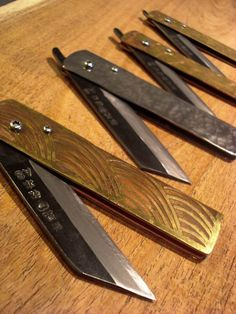 takeda folding knife  tosho knife arts