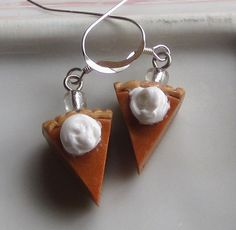 Pumpkin Pie Earrings Thanksgiving Earrings by OneElf on Etsy