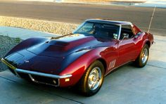 1968 Chevy Corvette.  When I was a kid I wanted one in light blue.  Guess I still do.