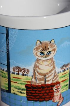 Cute Cat Mug Japan by OurBackRoadsVintage on Etsy, $8.00
