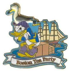Donald Duck Boston Tea Party Pin