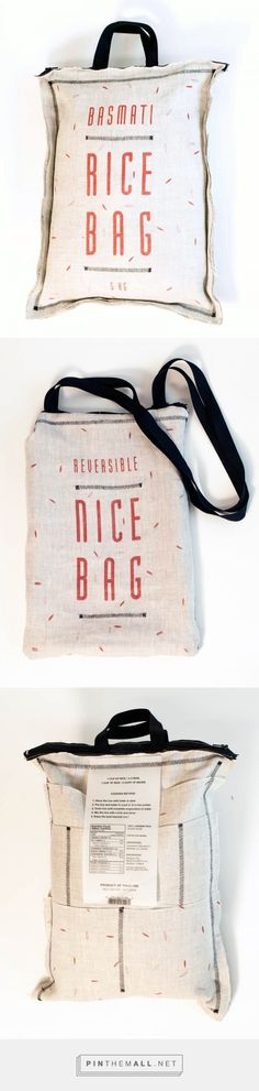 PACKAGING | UQAM: RICE BAG = NICE BAG | Audrey-Claude Roy - created via https://pinthemall.net