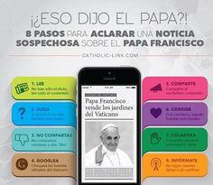 """""""¿¡Eso dijo el #PapaFrancisco!? (Genial imagen de @catholiclink_es) #NoTeDejesLlevar #Infórmate"""""""