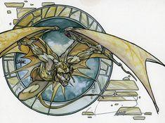 Ivory Gargoyle art by Quinton Hoover
