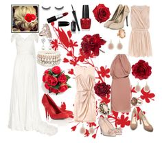 a red and blush wedding... since you previously wanted red, I thought this may be an appealing color combo to you