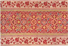 Sleeve embroidery from village Pohorelá, Horehronie region, Central Slovakia