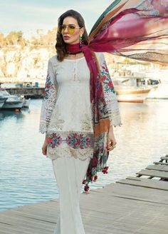 aa3a48c776 Maria B: Maria B Lawn 2019, Chiffon Suits Collection - Maria B EMbroidered  Luxury
