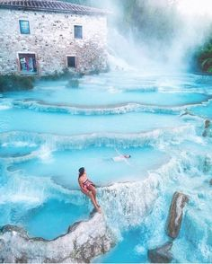 Spas of Saturnia, Italy, Resort, Travel, Tourist Attraction, Sightseeing Spots, Superb Views