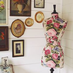 Gorgeous Flora is tailored in a stunning vintage textured barkcloth fabric. A beautiful chalk pink background with oodles of florals in a myriad of colours. Cath Kidston Fabric, Vintage Mannequin, Dressmaking, Pink And Green, High Neck Dress, Colours, Pretty, Inspiration, Beautiful