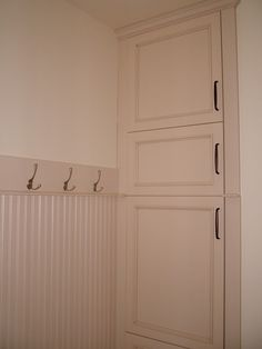 Laundry Chutes  side opening-  might be better on other side as you could push laundry through easier