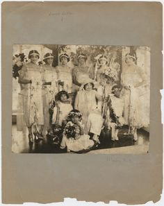 Bridal party of Mae Walker, adopted daughter of A'Lelia Walker, consisting of the matron of honor, bridesmaids, and flower girls.