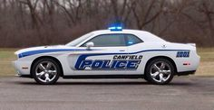 Dodge Challenger Police car....worth joining the academy for!