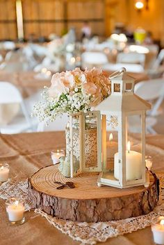 30 Amazing Lantern Wedding Centerpiece Ideas ❤ See more: http://www.weddingforward.com/lantern-wedding-centerpiece-ideas/ #weddings #decorations