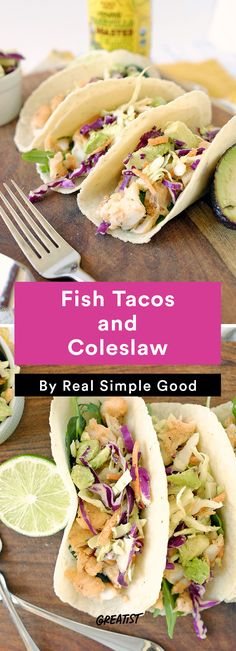 7. Fish Tacos and Coleslaw #paleo #dinner #recipes http://greatist.com/eat/paleo-dinner-recipes-to-please-a-crowd