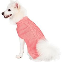Blueberry Pet 16 Colors Classic Cable Knit Rosy Pink Dog Sweater, Back Length Pack of 1 Clothes for Dogs - Dog Store Large Dog Sweaters, Knit Dog Sweater, Disney Dogs, Cable Knitting, Rosy Pink, Dog Store, Pink Dog, Dog Hoodie, Pet Clothes