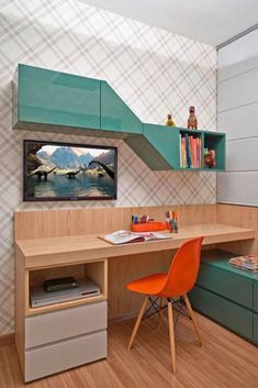 Great deals of the most up to date and also most special research study table st. Great deals of the most up to date and also most special research study table styles for kids or girls. Study Table Designs, Study Room Design, Kids Room Design, Home Office Design, Kids Study Table Ideas, Desk Ideas, Children Study Table, Office Table Design, Room Ideas