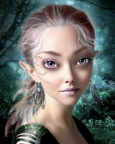 Lovely Violet eyed.  she looks just like Amanda Seyfried