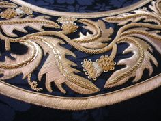 HAND & LOCK Heritage embroidery. Goldwork.