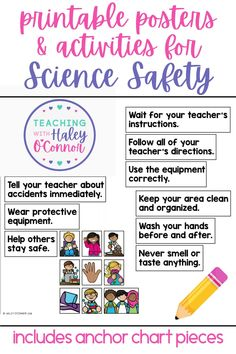 Before we begin engaging science labs with our classes, its so important we take time to discuss being safe scientists! Even though primary science labs are typically not dangerous, we are setting them up for success in later grades! This unit is all you'll need to teach science safety to your young students! | Classroom Management Resources | Elementary Science | Anchor Charts for Elementary |