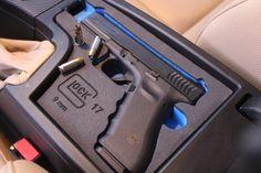 Custom Glock arm-rest holder