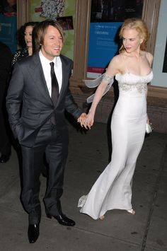 Honoree Nicole Kidman arrives with Keith Urban at GLAMOUR's 2008 Women of the Year Awards