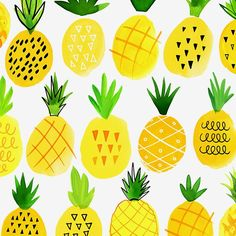 Margaret Berg Art: Pineapple+Rows