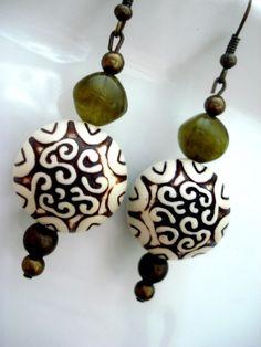 Boho Earrings  Yoga Earrings  Tribal Earrings  Boho by Gnosticos, $19.00