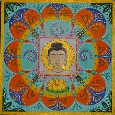 Mandala VII (Buda). Acrílico sobre tabla. 19x19cm  25€