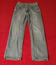 Levi's 550 Boy's Relaxed Fit Blue Jeans Size 14 Slim  W25 L 27 (24x26 Actual) #Levis #Relaxed