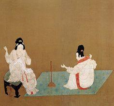 https://flic.kr/p/6rwRsH   唐-张萱-捣练图2-波士顿博物馆   Painted by the Tang Dynasty artist Zhang Xuan 张萱.