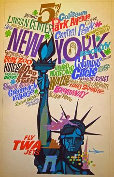 Vintage New York travel poster by David Klein.  Source: illostribute.com...*LOVE* My city~~