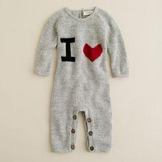Oeuf® I heart baby jumper: So cozy! #Onesie #Oeuf #Heart #Babies